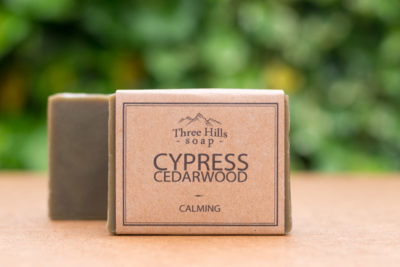 Cypress Cedarwood Natural Soap, Three Hills Soap