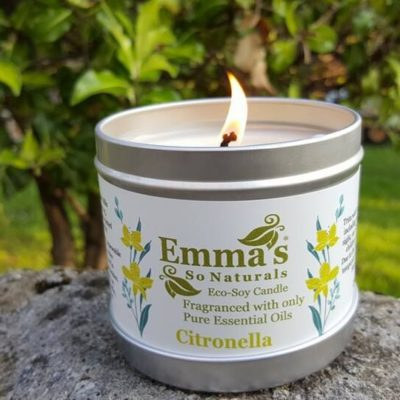 Large Outdoor Candle Citronella Aluminium