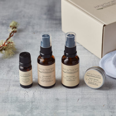 A selection of handmade skincare products