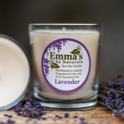 Glass Eco Soy Candle Lavender