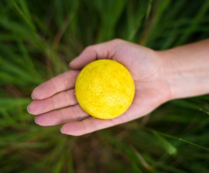 Shampoo Bar in Palm of Hand