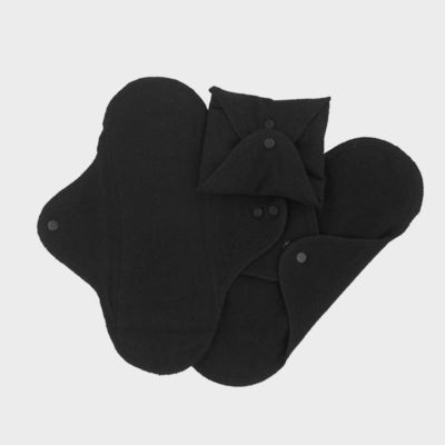 ImseVimse Panty Liner Black 3 Pack Reusable Cloth Liners