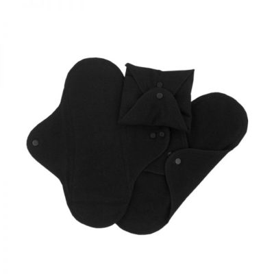 ImseVimse Reusable Day Pads Black Sanitary Pads Sustainable Period