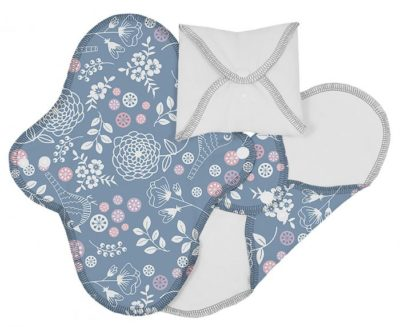 ImseVimse Reusable Day Pads Blue Pattern Sanitary Pads