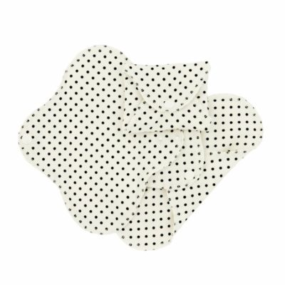ImseVimse Slim Day pads Washable Cloth Pads White with Black Dots