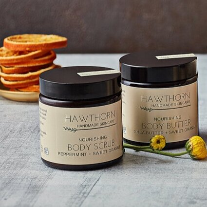 Hawthorn Body Scrub and Butter Set