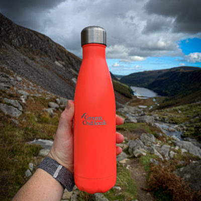 Coral Reusable Water Bottle Narcissips Green Outlook