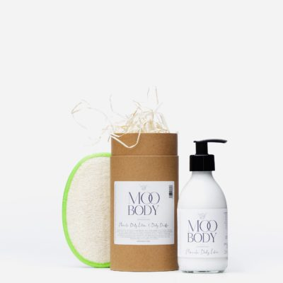 Moo Gift Set Body Lotion and Body Buffer