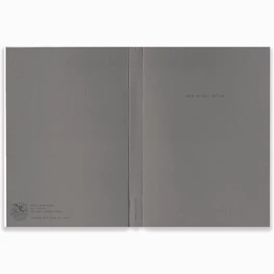A5 Notebook Badly Made Books