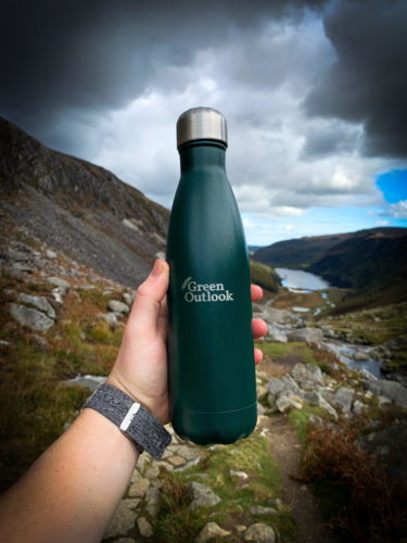 Reusable Water Bottle Teal Colour Green Outlook brand