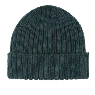 Ribbed Hat in Evergreen