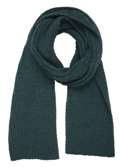 Ribbed Scarf in Evergreen