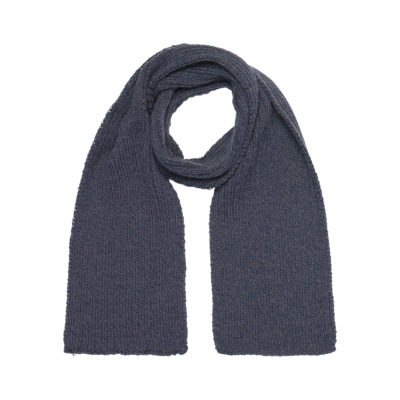 Navy Ribbed Scarf